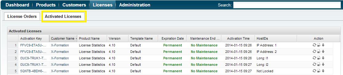 Creating bulk license orders - License Activation Center - X