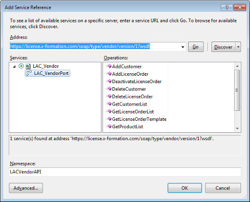 Examples of  NET API - License Activation Center - X